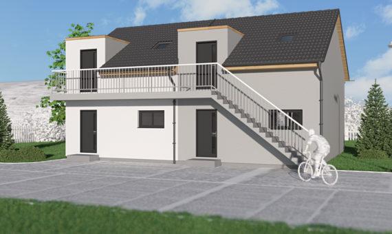 Dům se dvěma byty B